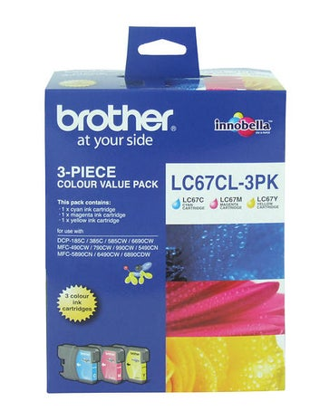 BROTHER LC67 Colour Three Pack OEM