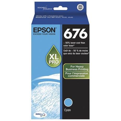EPSON 676XL Cyan Ink Extra Large OEM