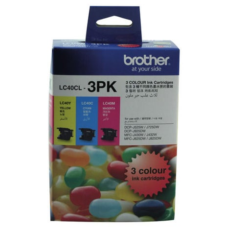 BROTHER LC40 Colour 3 Pack