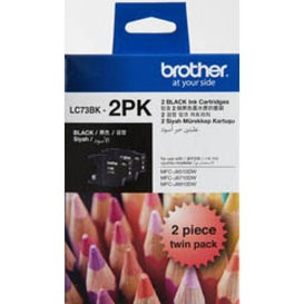 BROTHER LC73 Black Twin Pack OEM