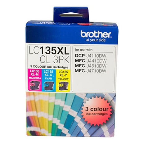BROTHER LC135XL Extra Large Triple Pack Col OEM