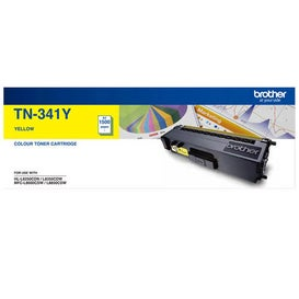 BROTHER TN341 Yellow Toner Low OEM