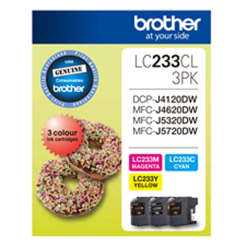 BROTHER LC233 Colour Triple Pack OEM