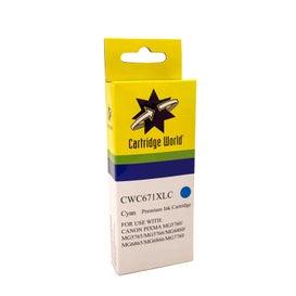 CW Brand CLI671XL Cyan Extra Large