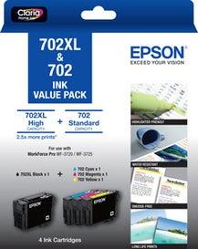 EPSON 702XL Extra Large Value Pack OEM
