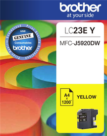 BROTHER LC23E Yellow OEM