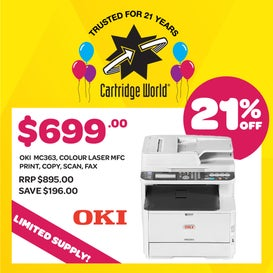 OKI MC363dn Colour Multifunction Laser Printer