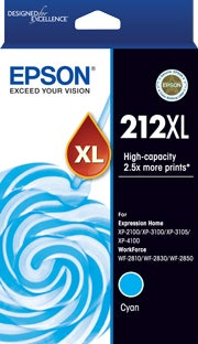 EPSON 212XL Cyan Extra Large OEM