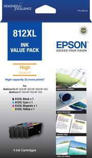 EPSON 812XL 4 Ink Value Pack Extra Large OEM